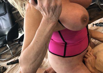 TSDee Pink Corset Blonde Dirty Feet IMG 2035Edited