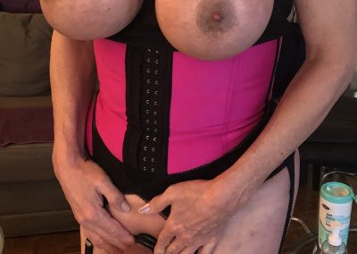 TSDee Pink Corset Hard Cock IMG 2127Edited