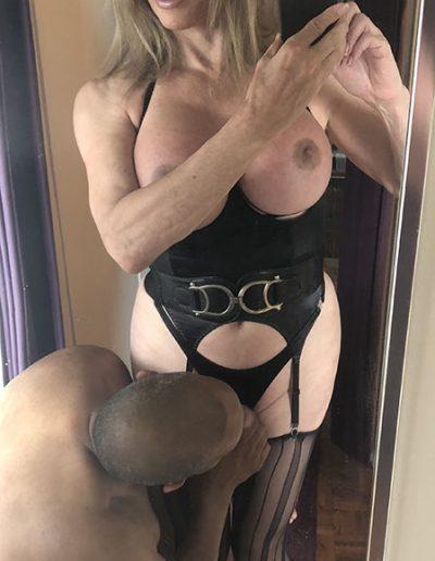 BDSM TSDee.com in Striped Nylons IMG 0539