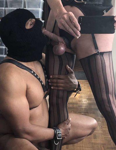 BDSM TSDee.com in Striped Nylons IMG 0619