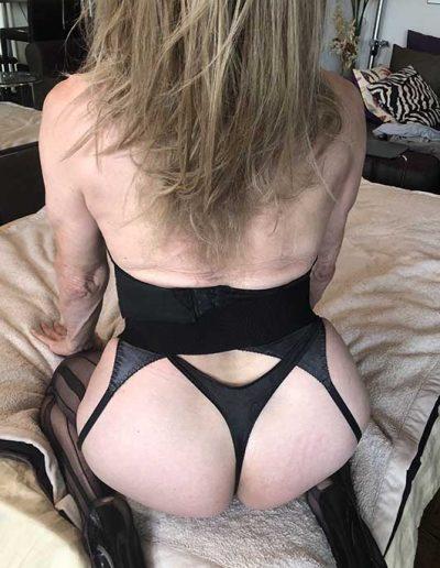 BDSM TSDee.com in Striped Nylons IMG 0624