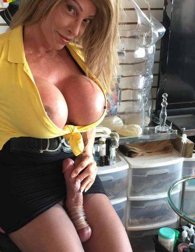 TSDee.com Yellow Top Hugs Tits Big Cock IMG 4789