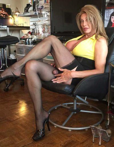 TSDee.com Yellow Top Hugs Tits Big Cock IMG 4803