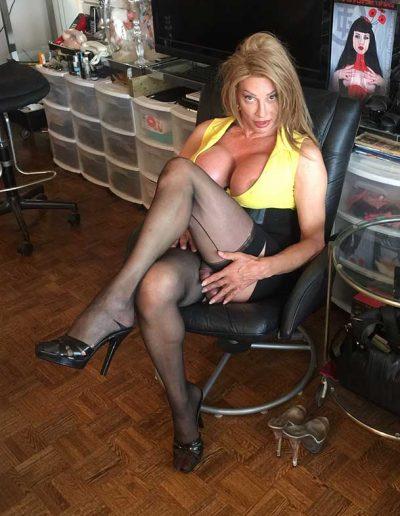 TSDee.com Yellow Top Hugs Tits Big Cock IMG 4804