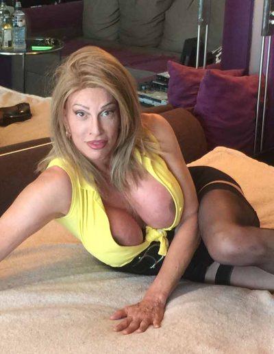 TSDee.com Yellow Top Hugs Tits Big Cock IMG 4817