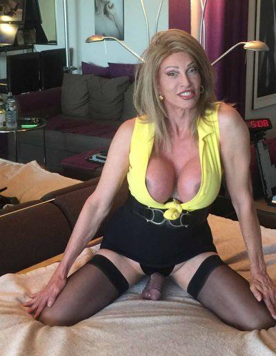 TSDee.com Yellow Top Hugs Tits Big Cock IMG 4822