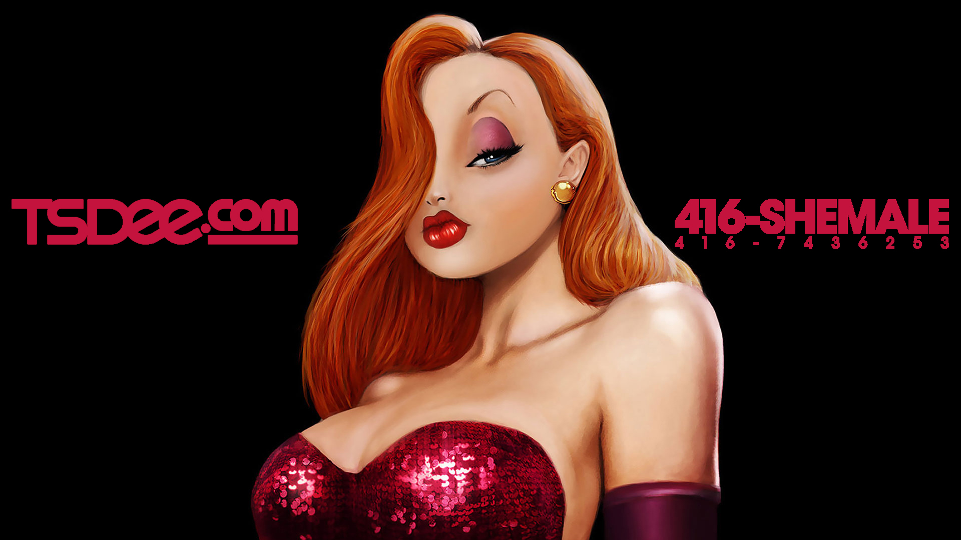 Jessica Rabbit Background and landing page