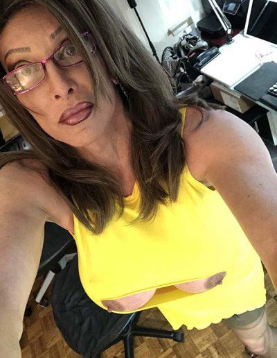 Aunties Yellow Slit Dress 64746438121