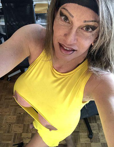 Aunties Yellow Slit Dress 64787762362