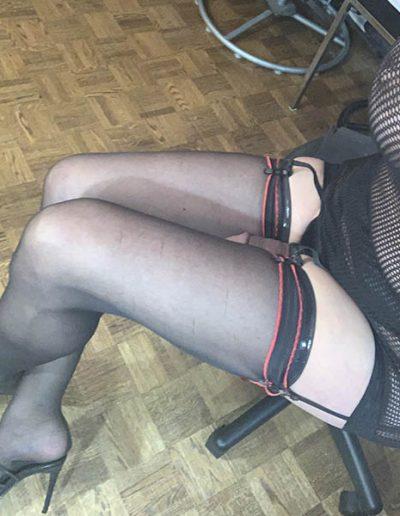 Fishnet Dress Feet Shoes Nylons IMG 1011